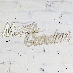 Mum's Garden Metal Sign - gifts for her