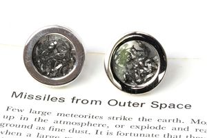 Steel And Meteorite Cufflinks - jewellery sale