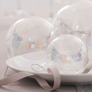 Clear Soap Bubble Christmas Bauble - enchanted wedding trend