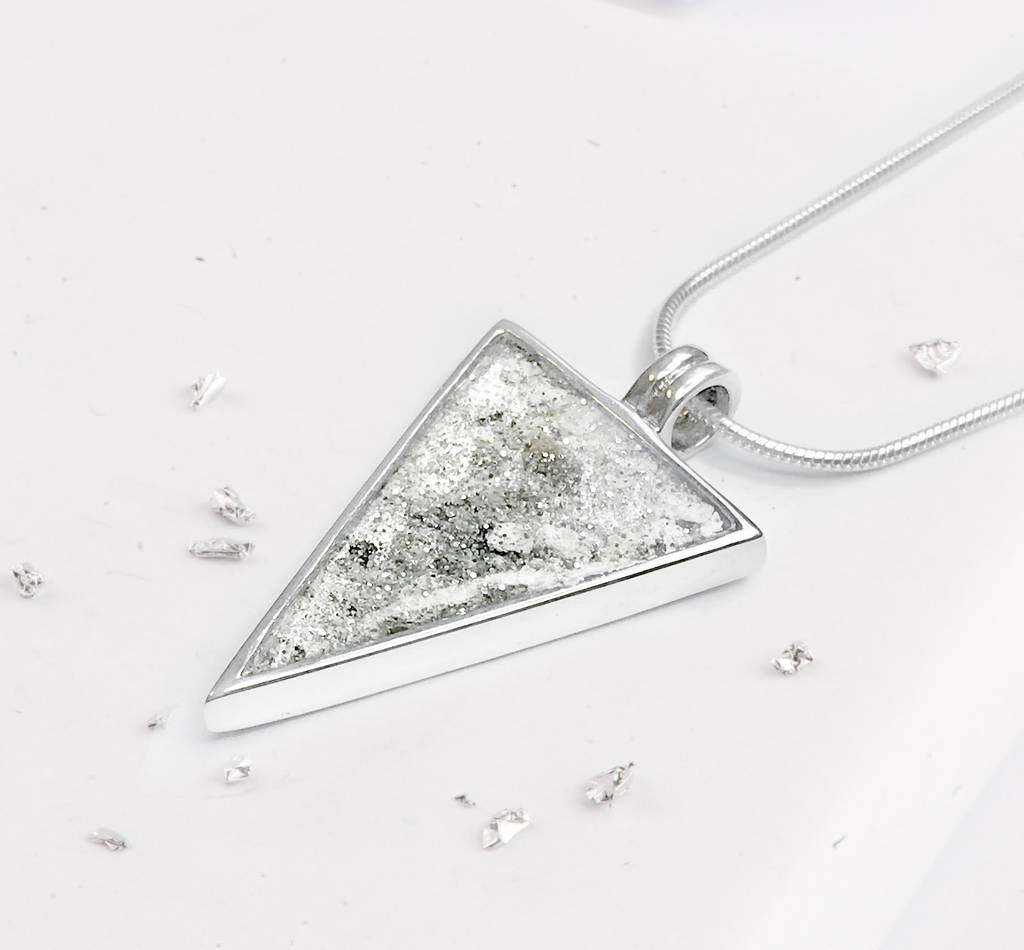 natural triangular clear quartz pendant product harmonix