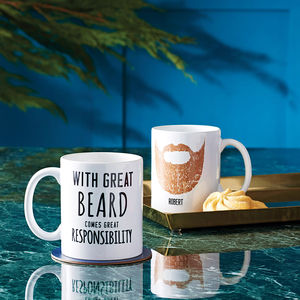 Personalised 'Great Beard' Man Mug - kitchen
