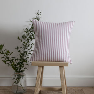 Ticking Stripe Rose Pink Cushion - cushions