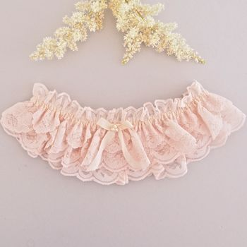 Camilla Blush Pink Lace Wedding Garter