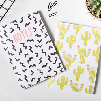 'Geometric' Notebook Set