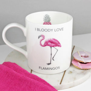 'I Bloody Love Flamingos' Mug