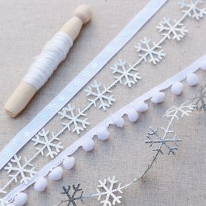 Silver Snowflake Ribbon Collection - sewing & knitting
