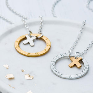 Personalised Hugs And Kisses Necklace - gifts for mothers