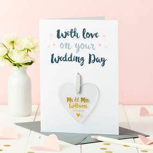Personalised Wedding Foiled Keepsake Card - wedding cards