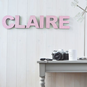 Personalised Glitter Letters - room decorations