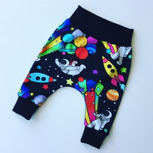 Spaceman Print Unisex Baby / Children's Harem Trousers - clothing