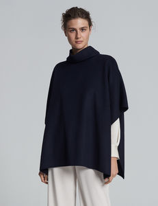 Double Face Wool Poncho - ponchos & wraps