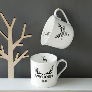 Personalised Stag China Cup Or Mug - kitchen