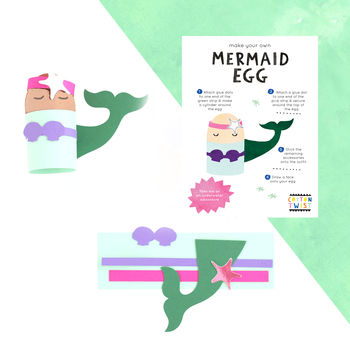 Make Your Own Mermaid Egg Character