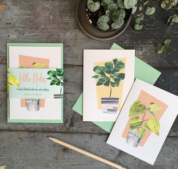 House Plant Notelet Gift Set