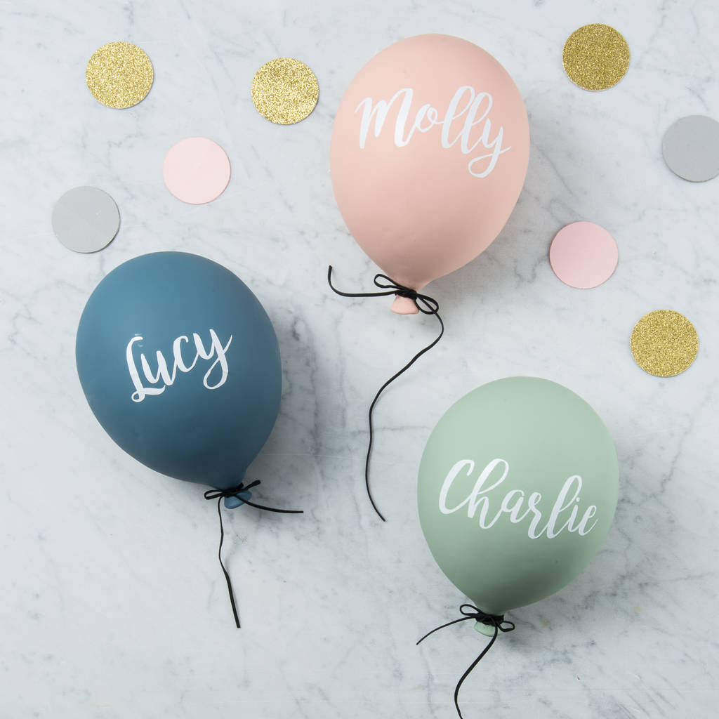 Personalised Ceramic Balloon Wall Decoration