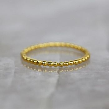 14k Gold Vermeil Bobble Ring