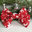 Red Stag Christmas Dog Bow Tie