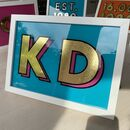 Personalised Name Gold And Glass Sign