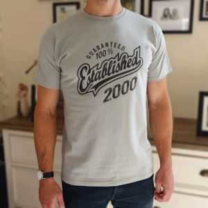 'Established 2000' 18th Birthday Gift T Shirt - 18th birthday gifts