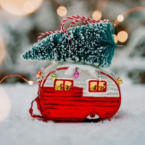 Christmas Large Caravan Decoration