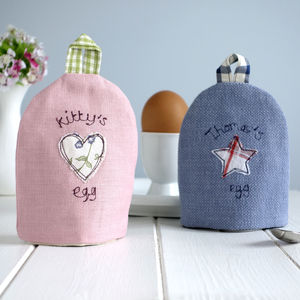 Personalised Fabric Egg Cosy - egg cups & cosies