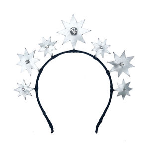 Star Crystal And Leather Headdress
