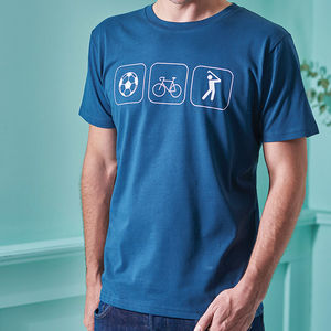 Personalised Hobbies T Shirt - men's fashion