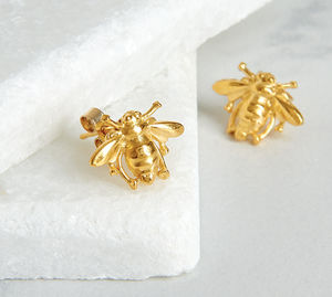 Bee Stud Earrings - earrings