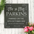 Personalised Wedding Gift Slate Sign