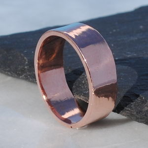 9ct Rose Gold Wide Flat Wedding Band