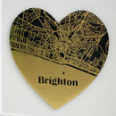 Personalised Black Wedding Planner With Gold Map Heart