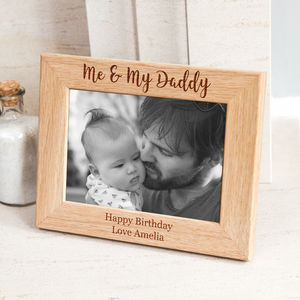 Personalised Me And My Daddy Photo Frame For New Dads