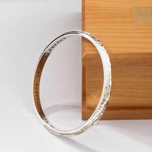 Personalised Heavy Silver Bangle - bracelets & bangles