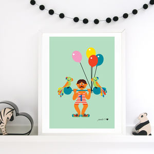 Print With Adorable Retro Weight Lifter
