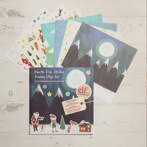 North Pole Sticker Scenes Play Set - christmas stickers