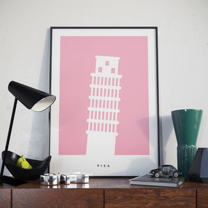 Leaning Tower Of Pisa Poster. Landmark Print - posters & prints