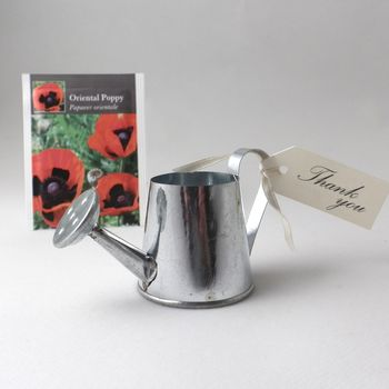 Wildflower Seeds And Watering Can Wedding Favours