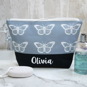 Personalised Butterfly Make Up Bag Or Wash Bag