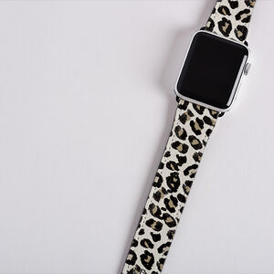 Personalised Leopard Print Apple Watch Strap