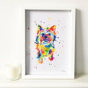 Rainbow Pet Portrait - paintings