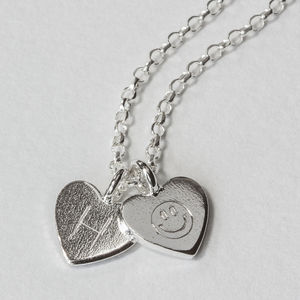 Sterling Silver Engraved Tiny Heart Necklace - necklaces & pendants