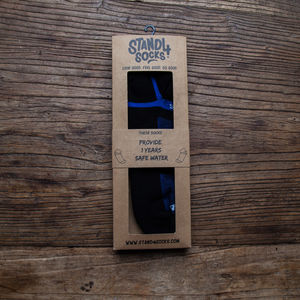 Black And Blue Ankle Sports Water Sock - socks