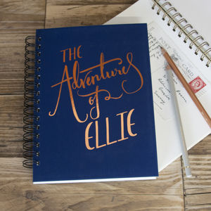 'The Adventures Of' Personalised Memory Book - personalised gifts for her