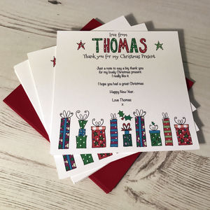 Thank You For My Christmas Present Notecards - thank you cards