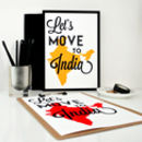 Travel Art Print Let's Move To India