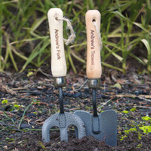 Personalised Fork And Trowel Set - garden tools