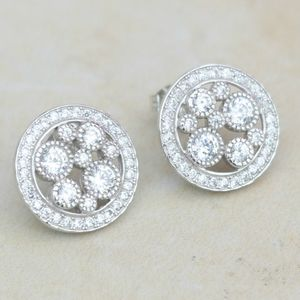 Round Art Deco Earrings - earrings