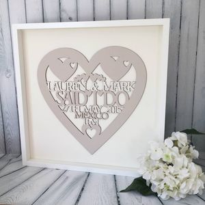 Personalised Wedding Heart Keepsake Gift