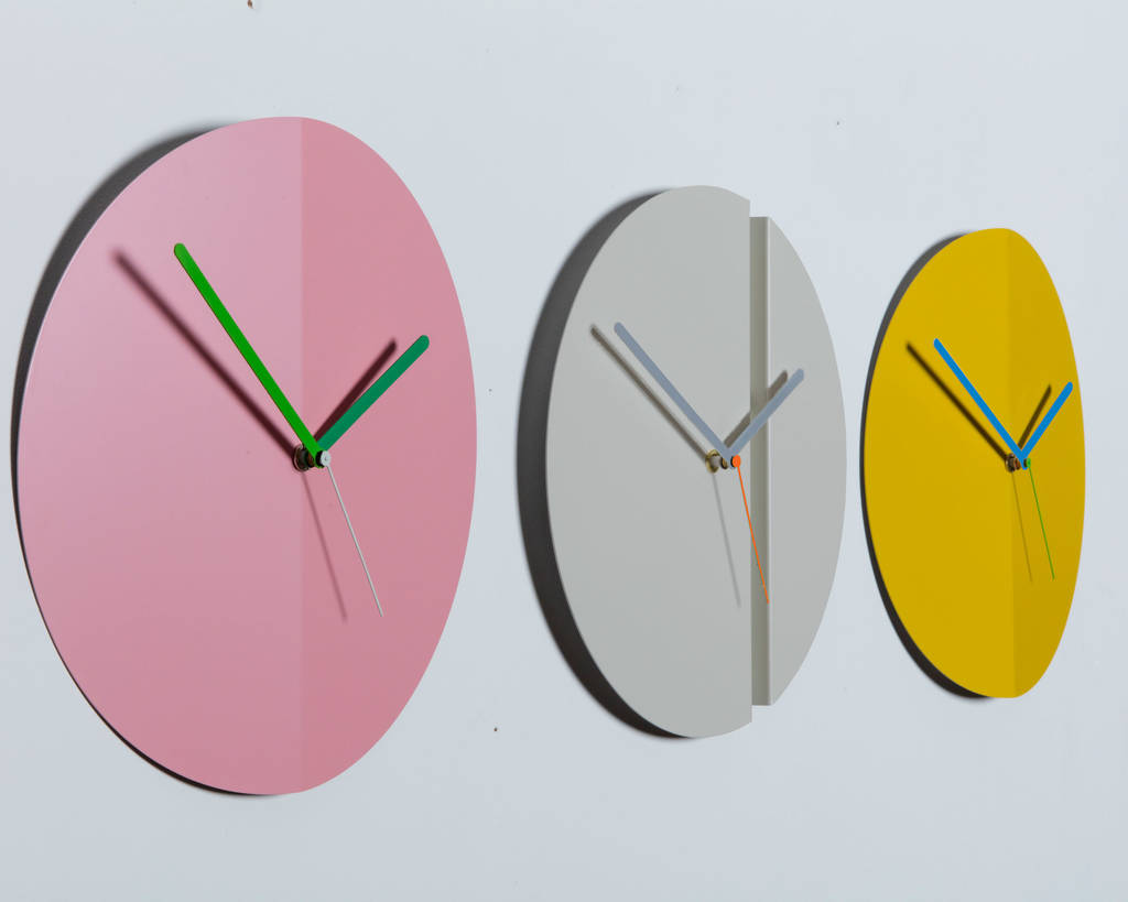origami wall clock pleat fold by block