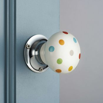 Colourful Spotted Internal Turning Mortice Door Knobs